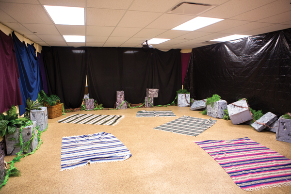 Classroom Worship Ideas ~ Cave quest decorating group children s ministry